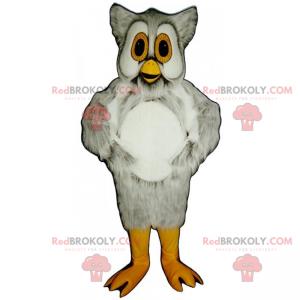Eulenmaskottchen mit gelben Augen - Redbrokoly.com