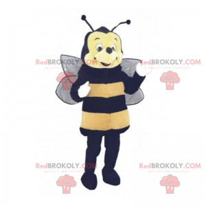 Bee mascot with a round face - Redbrokoly.com