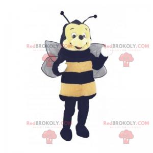 Bienenmaskottchen mit rundem Gesicht - Redbrokoly.com