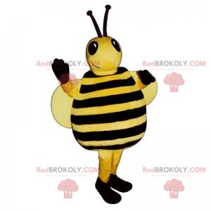 Mascote de abelha com asas grandes - Redbrokoly.com