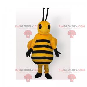 Bienenmaskottchen mit langen Antennen - Redbrokoly.com