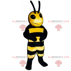 Mascote de abelha com antenas longas - Redbrokoly.com