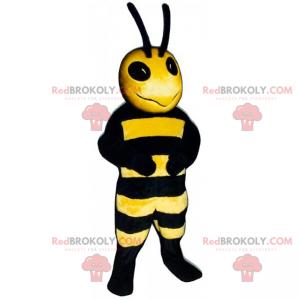 Včelí maskot s dlouhými anténami - Redbrokoly.com