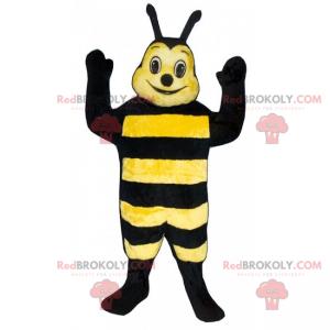 Mascote de abelha com pequenas antenas - Redbrokoly.com