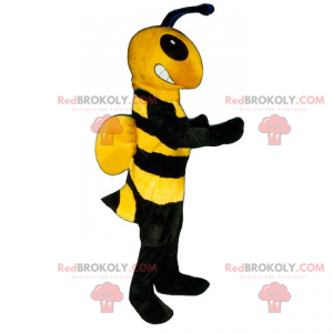 Bee maskot med små vinger - Redbrokoly.com