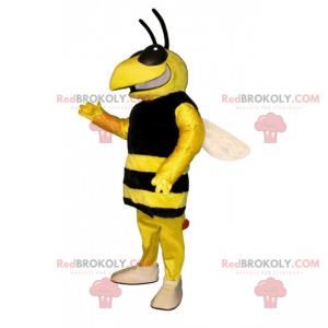 Bienenmaskottchen mit einem großen Lächeln - Redbrokoly.com