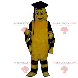 Včelí maskot v promoce oblečení - Redbrokoly.com