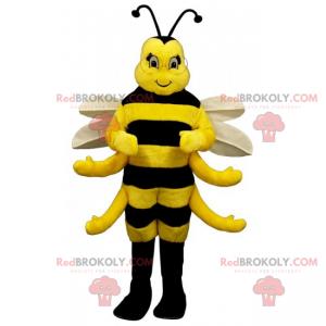 Roztomilý včelí maskot s bílými křídly - Redbrokoly.com