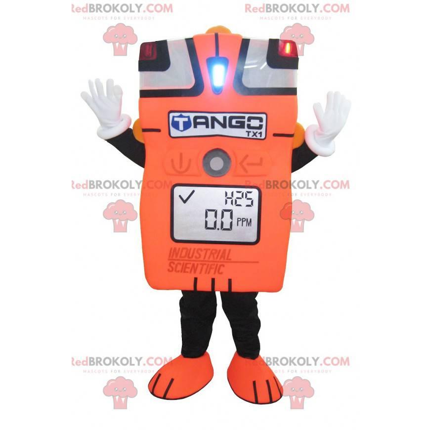 Riesiges orangefarbenes Amperemeter-Maskottchen - Redbrokoly.com