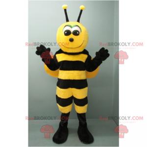 Entzückendes lächelndes Bienenmaskottchen - Redbrokoly.com