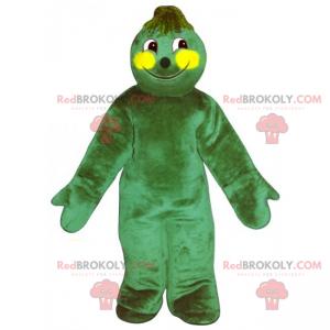 Urocza maskotka zielonego mężczyzny - Redbrokoly.com