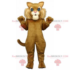 Adorable cat mascot with big blue eyes - Redbrokoly.com