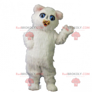 Adorable white kitten mascot - Redbrokoly.com