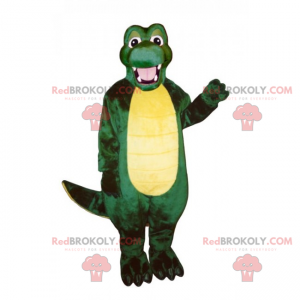 Adorable mascota cocodrilo sonriente - Redbrokoly.com