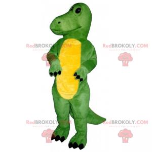 Bedårende gul mage-dino maskot - Redbrokoly.com