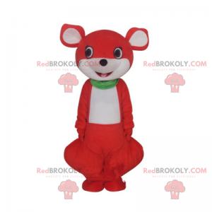 Adorável mascote canguru de cabeça redonda - Redbrokoly.com