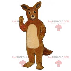 Adorável mascote canguru australiano - Redbrokoly.com