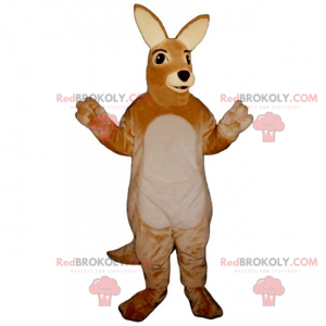 Roztomilý roztomilý klokan maskot - Redbrokoly.com