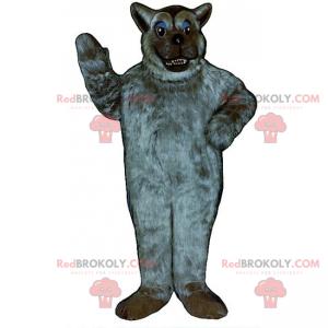 Šedý vlk maskot s měkkými vlasy - Redbrokoly.com