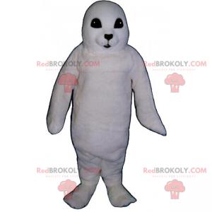 Adorabile mascotte leone marino bianco - Redbrokoly.com