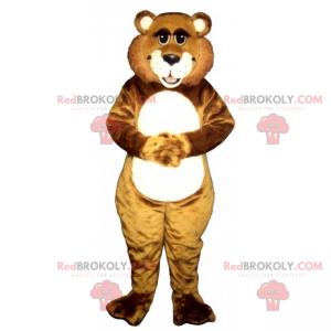 Roztomilý medvídek maskot se širokým úsměvem - Redbrokoly.com