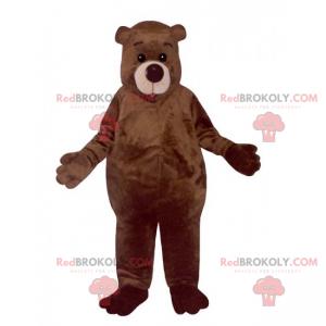 Adorable brown bear mascot - Redbrokoly.com
