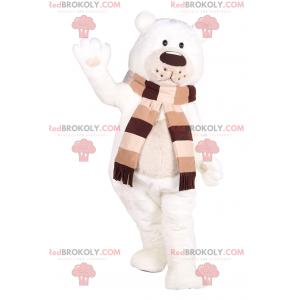 Entzückendes Eisbärenmaskottchen mit seinem Schal -