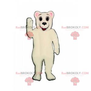 Adorable polar bear mascot - Redbrokoly.com