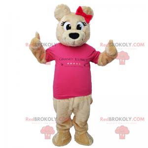 Bedårende bamsmaskott i t-skjorte - Redbrokoly.com