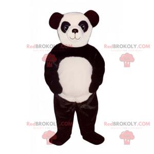 Adorável mascote panda com olhos grandes - Redbrokoly.com