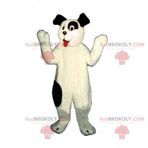 Entzückender kleiner weißer Hund des Maskottchens und der