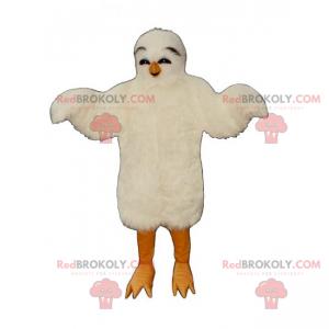 Adorable white chick mascot - Redbrokoly.com