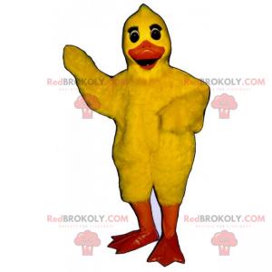 Roztomilý žlutý kuřátko maskot - Redbrokoly.com