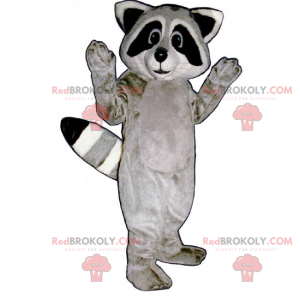 Roztomilý maskot mýval šedý - Redbrokoly.com