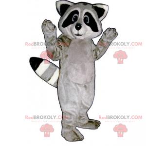 Yndig grå vaskebjørn maskot - Redbrokoly.com