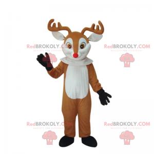 Entzückendes Rentiermaskottchen mit roter Nase - Redbrokoly.com