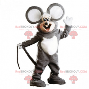 Adorable mouse mascot with very large ears - Redbrokoly.com