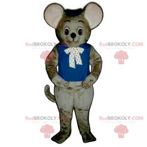 Roztomilý maskot myši s mašlí - Redbrokoly.com