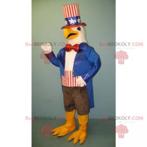 White eagle mascot American dress - Redbrokoly.com