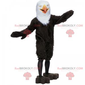 Weißes und schwarzes Adlermaskottchen - Redbrokoly.com