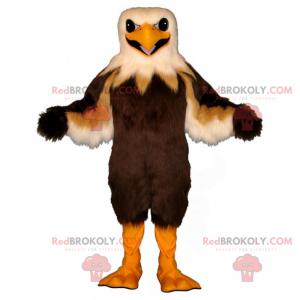 Hnědý a béžový maskot orla - Redbrokoly.com