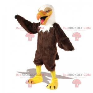 Very cheerful eagle mascot - Redbrokoly.com