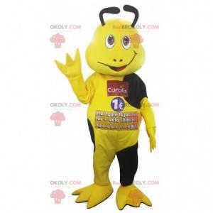 Gelbes und schwarzes Insektenmaskottchen - Redbrokoly.com