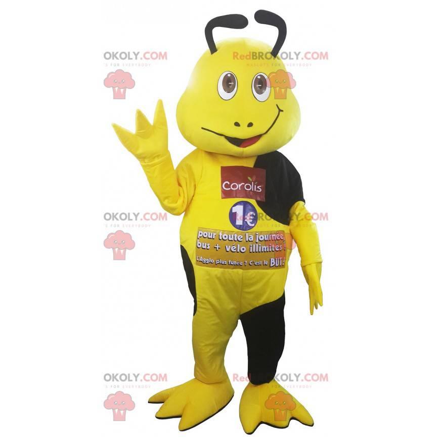 Žlutý a černý maskot hmyzu - Redbrokoly.com