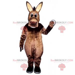 Osel maskot s velkými béžovými ušima - Redbrokoly.com