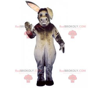 Graues Esel-Maskottchen mit sichtbaren Zähnen - Redbrokoly.com