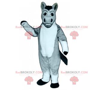 Graues Esel-Maskottchen mit großen Nasenlöchern - Redbrokoly.com