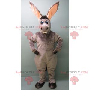 Šedý osel maskot s dlouhými ušima - Redbrokoly.com