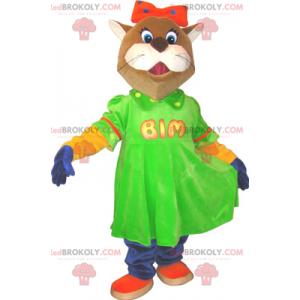 Maskot zvířat - liška s černými nohami - Redbrokoly.com