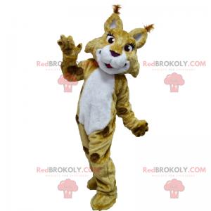 Savannah zvířecí maskot - Lynx s dlouhými řasami -
